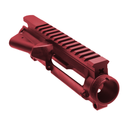 AR-15 Stripped Upper Receiver (RED) - Made in U.S.A.