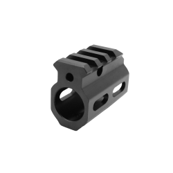 AR Picatinny Style Single Rail Gas Block .750 Dia. | Skeletonized