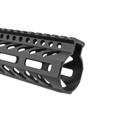 AR-15 M-LOK Super Slim Free Float Handguard with Accessory Rails and Steel Barrel Nut-12""
