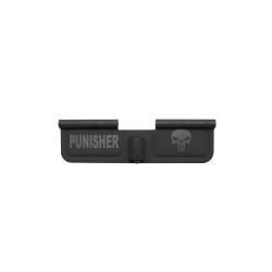 "AR-15 Ejection Port Cover Door ONLY: Laser Engraved ""PUNISHER"""