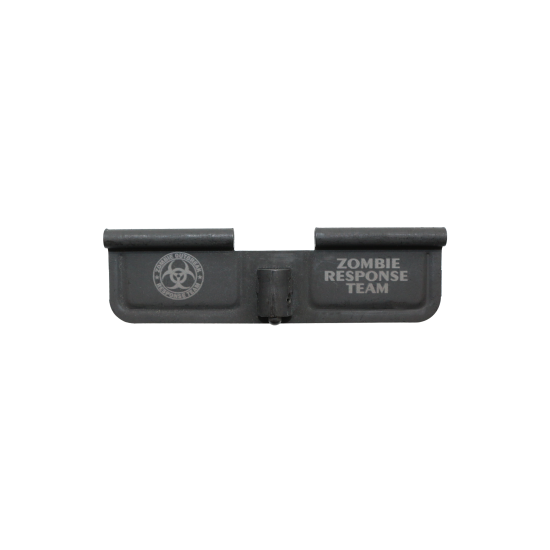 """AR-15 Ejection Port Cover Door ONLY: Laser Engraved """"ZOMBIE RESPONSE TEAM"""""""